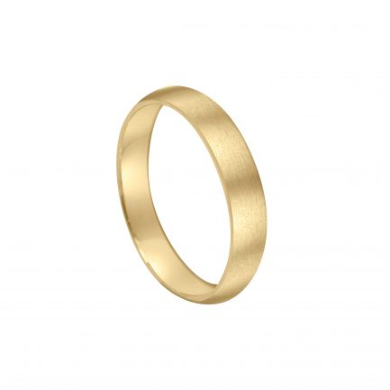 brushed finish gold wedding ring