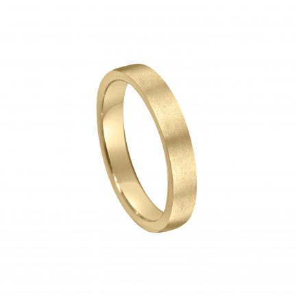 brushed finish matt wedding ring