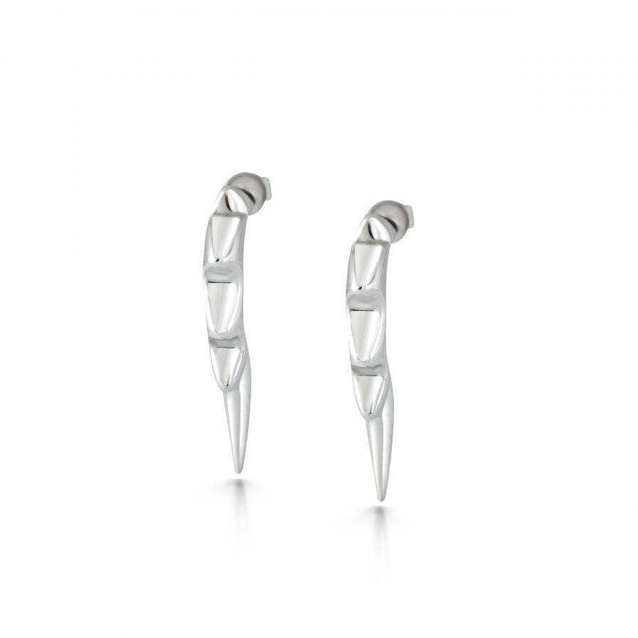 Pointy hoop earrings in silver Julie Nicaisse Jewellery Designer in London