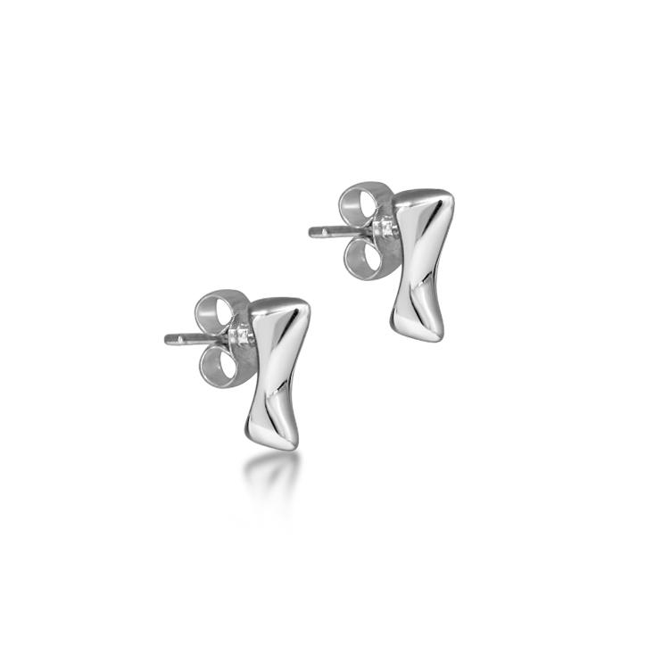 Silver meteor stud earrings Julie Nicaisse Jewellery Designer in London