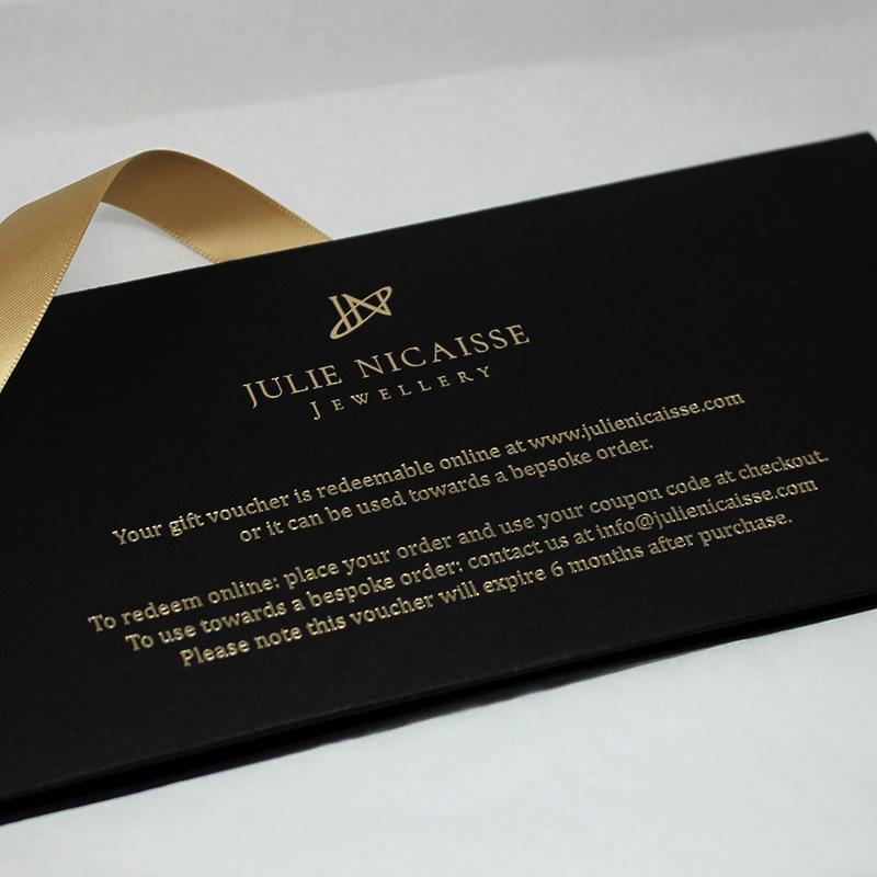 Gift voucher back