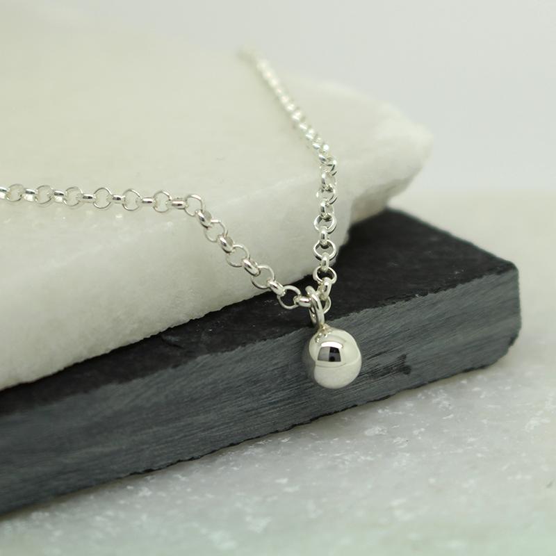 Silver bead pendant