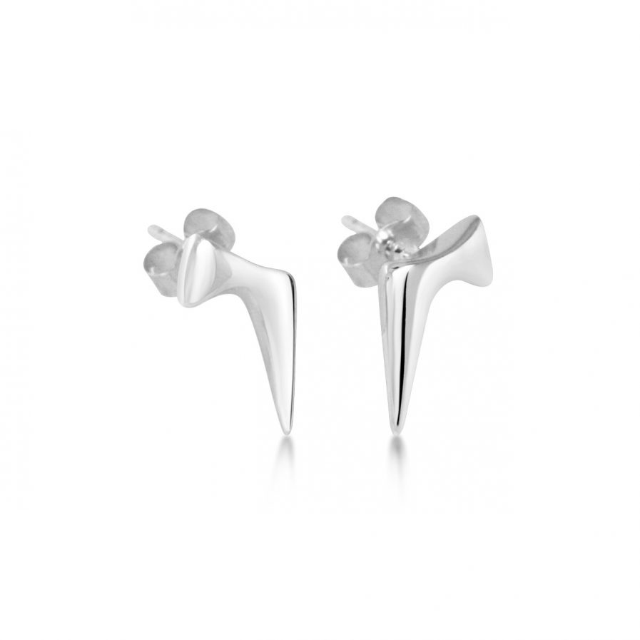 Handmade unusual silver stud earrings Julie Nicaisse Jewellery Designer in London
