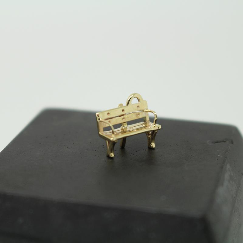 Bench gold charm for bracelet