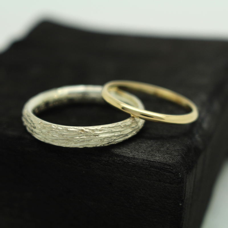 unique handmade gold wedding rings by Julie Nicaisse Jewellery Designer in London